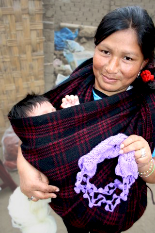 Peruvian Woman with Child