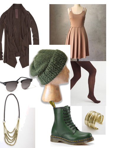 summer dress for fall fashion, knit hat, Dr. Martens Boots, noonday collection jewelry