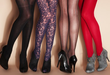 hosiery texture, color and pattern