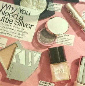 Silver Makeup from Glamour magazine